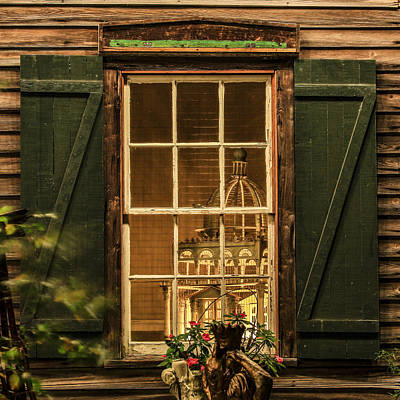 Photograph - A Charming View Through A Rustic Window by Paula Porterfield-Izzo