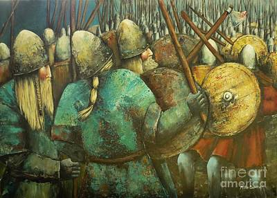 A Viking Skirmish Art Print