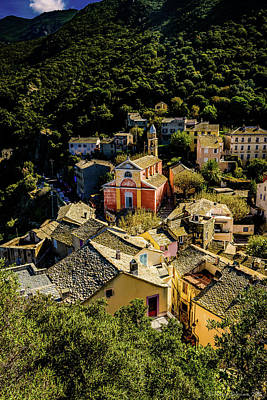 Photograph - A Village In Corsica by Patrice Bilesimo