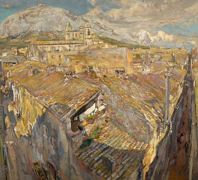 Painting - A Village In L'emporda by Francesc Gimeno