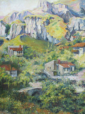 Painting - A Village Nestled In The Foothills by Tigran Ghulyan