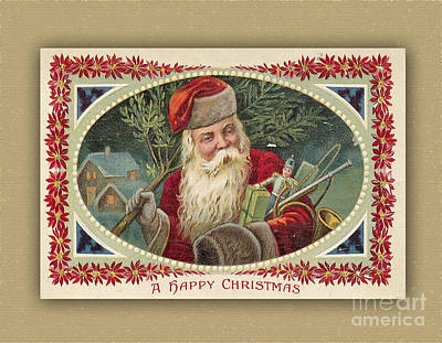 Digital Art - A Vintage Happy Christmas by Melissa Messick