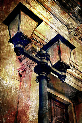 Streetlight Photograph - A Vintage Lampost by Tom Gowanlock