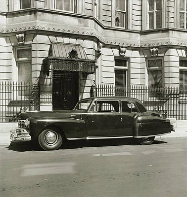 Street Scenes Photograph - A Vintage Lincoln Continental Coupe by Constantin Joffe