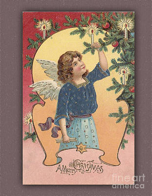 Digital Art - A Vintage Merry Christmas Card by Melissa Messick