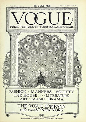 Wildlife Photograph - A Vintage Vogue Magazine Cover by Artist Unknown