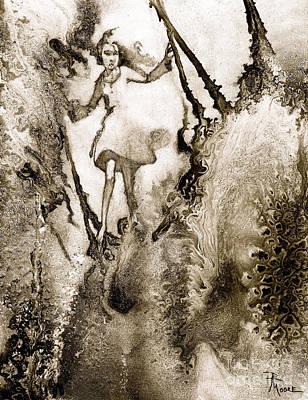 Nature Abstract Drawing - A Vision Softly Creeping by Rick Moore