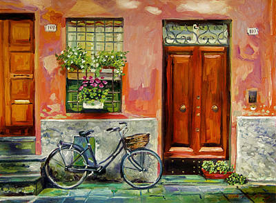 Impressionism Paintings - A Visit by David Lloyd Glover