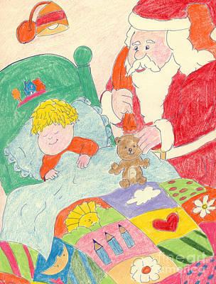 A Visit From Santa Art Print