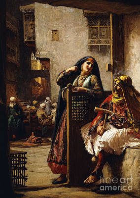Painting - A Visit From The Chieftain by Frederick Arthur Bridgman