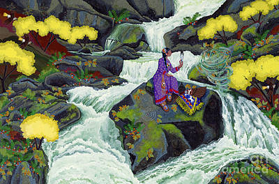 Painting - A Visit From Whirlwind by Chholing Taha