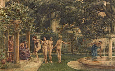 Poynter Painting - A Visit To Aesculapius by Sir Edward John Poynter