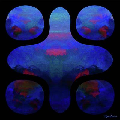 Digital Art - A Vol D'oiseau by Karo Evans