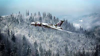 Snow Scene Landscape Digital Art - A Vulcan Christmas by J Biggadike