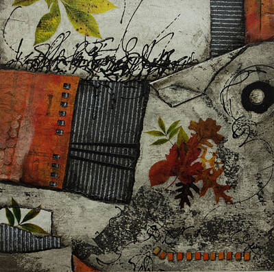 Mixed Media - A Wabi Sabi Moment by Laura  Lein-Svencner