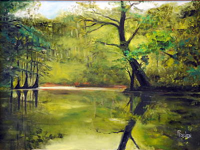 Painting - A Waccamaw Evening by Phil Burton