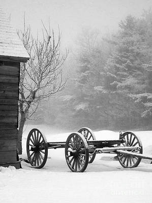 Photograph - A Wagon In Winter by Linda Drown