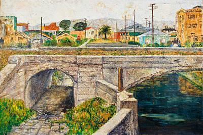 A Walk Along The Canal By Victor Herman Art Print by Joni Herman