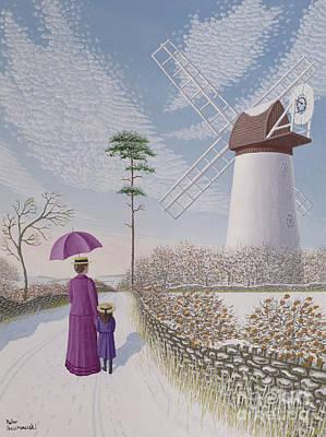 A Walk By The Mill Art Print by Peter Szumowski