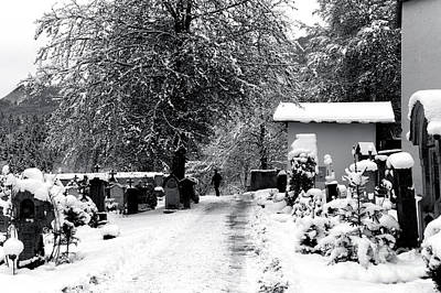 Photograph - A Walk In Berchtesgaden Cemetery by John Rizzuto