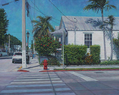 Painting - A Walk In Key West by David P Zippi