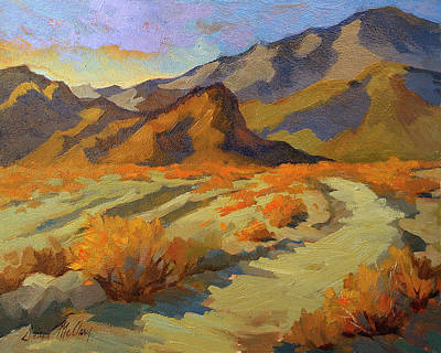 Morning Light Painting - A Walk In La Quinta Cove by Diane McClary