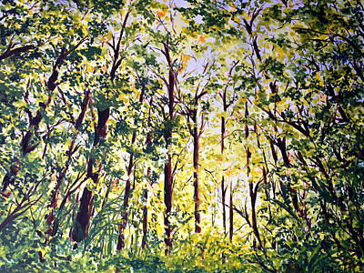 Painting - A Walk in the Forest by Monika Arturi