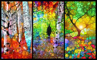 Digital Art - A Walk In The Forest by Tara Turner