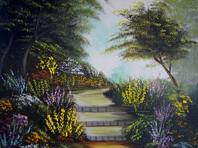 Painting - A Walk In The Garden by Debra Campbell