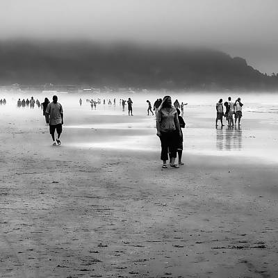 Seascape Photograph - A Walk In The Mist by David Patterson