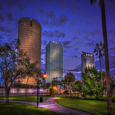 Tampa Skyline Photograph - A Walk In The Park by Marvin Spates