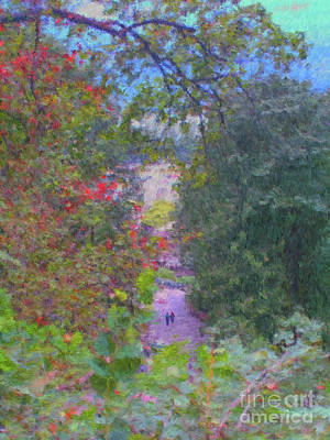 Painting - A Walk In The Park by Methune Hively