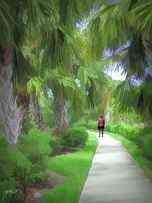 Photograph - A Walk In The Park by Rosalie Scanlon