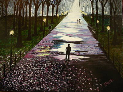 Painting - A Walk In The Park by Tim Mattox