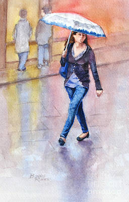 Painting - A Walk In The Rain by Bonnie Rinier