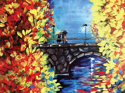 Painting - Paris In The Fall by Dani Abbott