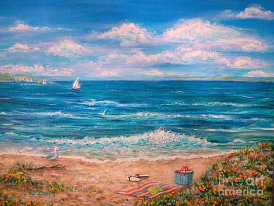 Painting - A Walk In The Sand by Dee Davis