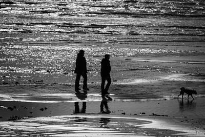 Photograph - A Walk In The Sea by David Warrington