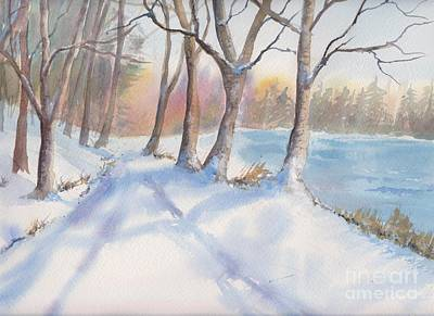 Painting - A Walk In The Snow by Yohana Knobloch