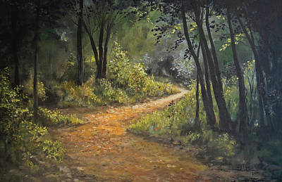 Painting - A Walk In The Woods by Alan Lakin
