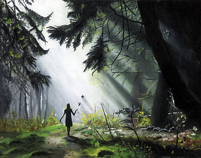 A Walk In The Woods Art Print by Chris Wiese