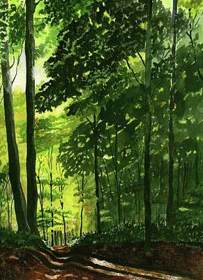 Painting - A Walk In The Woods by Jeff Blazejovsky