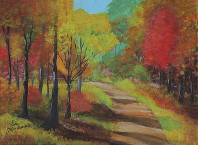 Wall Art - Painting - A Walk In The Woods by Lisa MacDonald