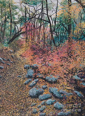 Mixed Media - A Walk In The Woods by Lucinda  Hansen