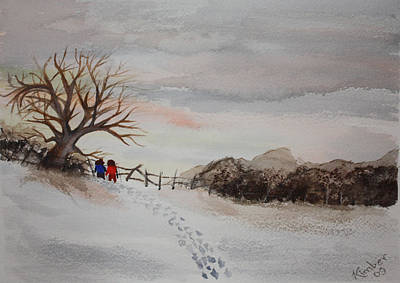 Painting - A Walk In Winter by Kimber  Butler