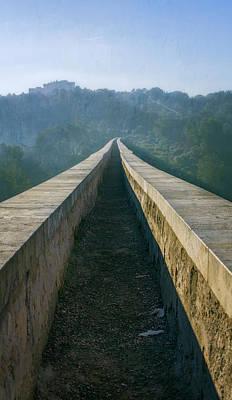 Photograph - A Walk On A Roman Aqueduct by Joan Carroll