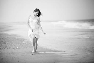 Model Photograph - A Walk On The Beach by Jae