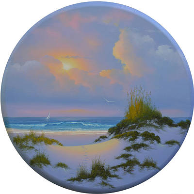 Painting - A Walk On The Beach by Kenneth F Aunchman