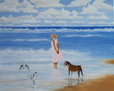 Painting - A Walk On The Beach by Linda Bennett