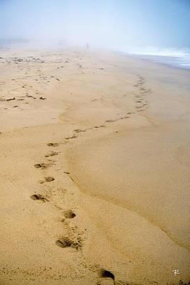 A Walk On The Beach Art Print by Tom Romeo